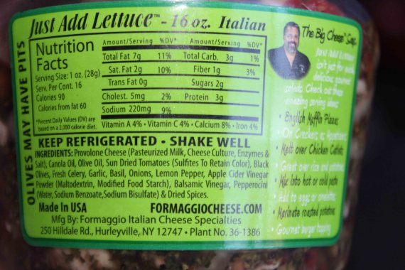 Just Add Salad Nutritional Information