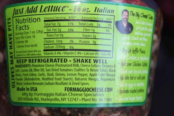 Just Add Salad Nutritional Information
