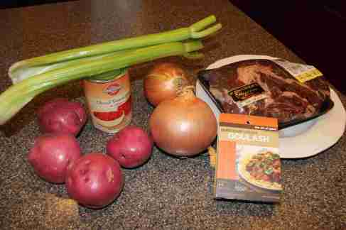 Hungarian Goulash Ingredients