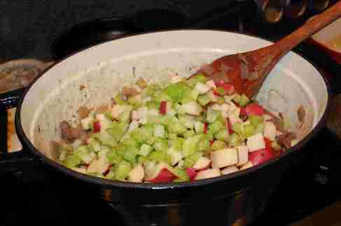 Add potatoes and celery